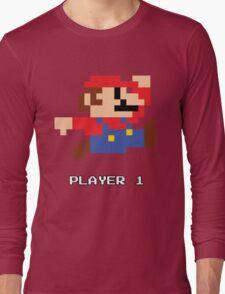 Mario Player 1 Long Sleeve T-Shirt