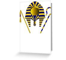 Pharaoh Tut | Egyptian Gods, Goddesses, and Deities Greeting Card