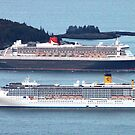 'Two Cruise Ships in Bar Harbor' by Scott Bricker