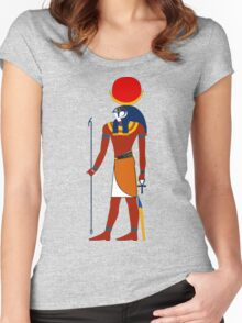 Khonsu as Falcon   Egyptian Gods, Goddesses, and Deities Women's Fitted Scoop T-Shirt