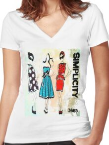 Simplicity Women's Fitted V-Neck T-Shirt