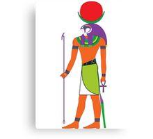 Khonsu as Falcon [FRESH Colors] | Egyptian Gods, Goddesses, and Deities Canvas Print
