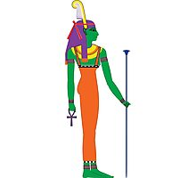 Maat [FRESH Colors] | Egyptian Gods, Goddesses, and Deities Photographic Print