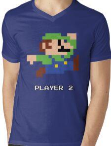 Luigi Player 2 Mens V-Neck T-Shirt