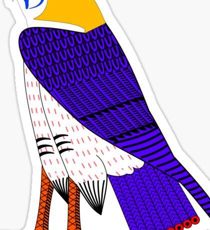 Horus as Falcon [FRESH Colors] | Egyptian Gods, Goddesses, and Deities Sticker
