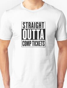 Straight Outta Comp Tickets Black T-Shirt