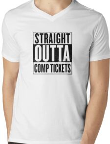 Straight Outta Comp Tickets Black Mens V-Neck T-Shirt