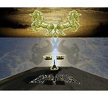 Twin Golden Unicorns Photographic Print