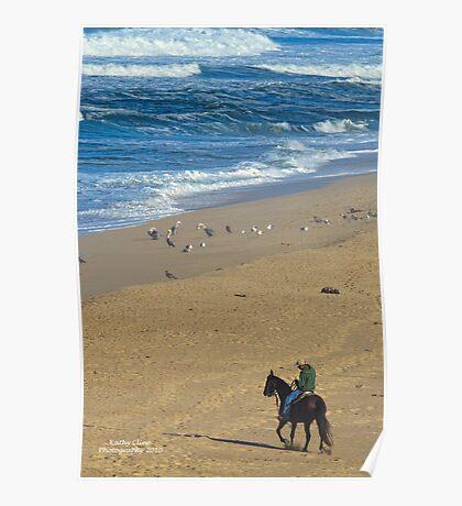 BEACH HORSE Poster
