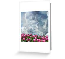 Resubmit of Clouds and Tulips Greeting Card