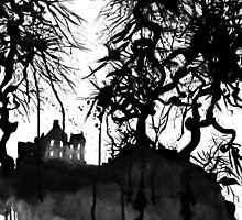 the house of gnarly trees..... by Loui  Jover