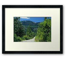 Mountain Road Framed Print