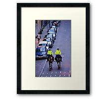 Equestrian Cops Framed Print