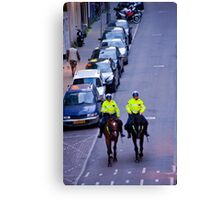 Equestrian Cops Canvas Print