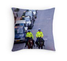 Equestrian Cops Throw Pillow