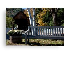 Woodstock Bench Canvas Print
