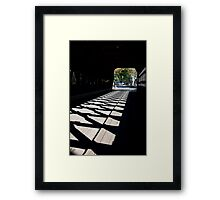 Covered Bridge Cross Hatched Shadows Framed Print