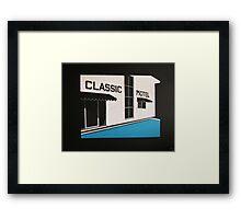 Classic Motel Framed Print