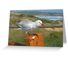 Back off it's mine! Greeting Card