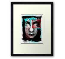 A Girl... An abstract reflection. Framed Print