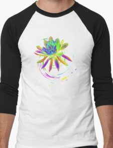 Psychedelic Flower  Men's Baseball ¾ T-Shirt