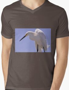 Snowy Egret, As Is.............Elvis? Mens V-Neck T-Shirt