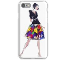 Beautiful sensual woman in fashionable skirt  iPhone Case/Skin
