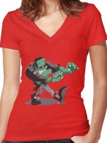 Frankenstein's Monster Women's Fitted V-Neck T-Shirt