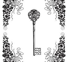 Vintage Key Design #1 by Heather Davis
