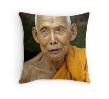 Monk at Lo Lei Throw Pillow