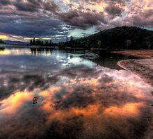 Shoreline Mirror by Bob Larson