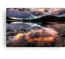 Shoreline Mirror Canvas Print
