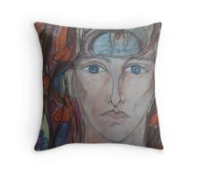 Inside The Pool Of Her Mind Throw Pillow