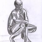 Naked Man, study in Pencil by Kyleacharisse