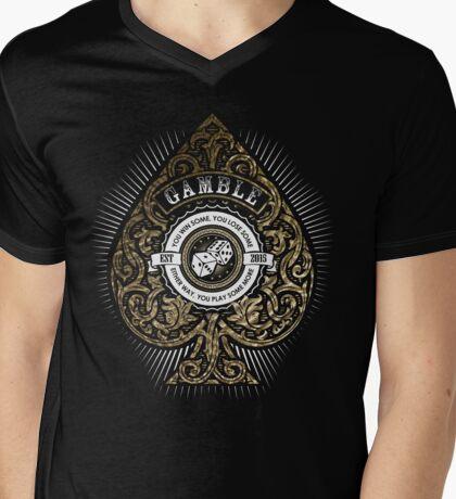 Gamble Mens V-Neck T-Shirt