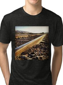 Sunshine Hits the Endless Train Tracks Tri-blend T-Shirt