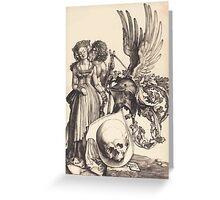 Albrecht Dürer or Durer Coat of Arms with a Skull Greeting Card