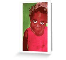 girl with pet possum Greeting Card