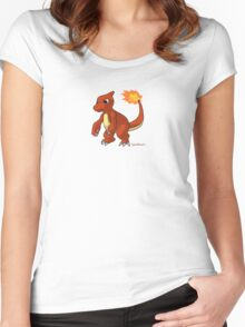 Red Charmeleon pokemon Women's Fitted Scoop T-Shirt