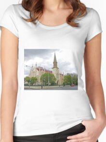 Storm over St Andrews Women's Fitted Scoop T-Shirt