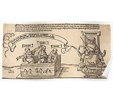 Albrecht Dürer or Durer Justice, Truth and Reason in the Stocks with the Seated Judge and Sleeping Piety Poster