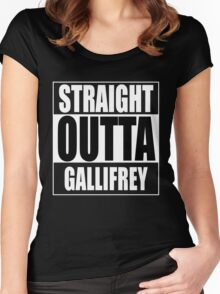 Straight OUTTA Gallifrey - Dr. Who Women's Fitted Scoop T-Shirt