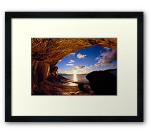 Wave Rock Framed Print
