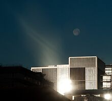 Sun and Moon Reflection in Birmingham by Tim Cornbill