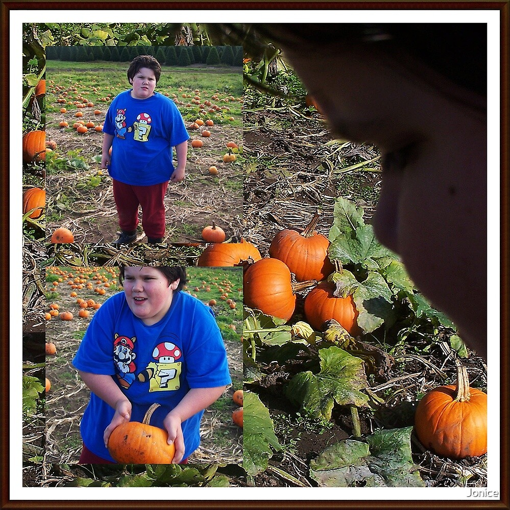 At The Pumpkin Patch With Michael Collage by Jonice