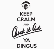 """Keep Cralm"" Black Version by tshirtsrus"