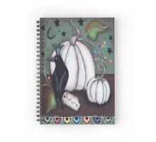 Autumn Black Bird Spiral Notebook