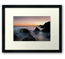 broadsands rocks 2 Framed Print