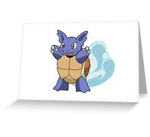 Blue Water Pokemon Wartortle Greeting Card