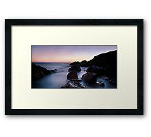 broadsands rocks 3 Framed Print